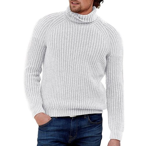 High Neck Sweater Men Autumn Winter Turtleneck Sweater Pullover Streewtear Slim Fit Men Casual Sweaters Fashion Clothing 2021