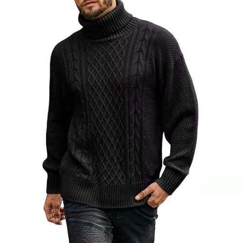 Men 2021 Winter New Casual Solid Thick Wool Cotton Sweater Pullovers Men High Elasticity Fashion Slim Fit O-Neck Male Sweater