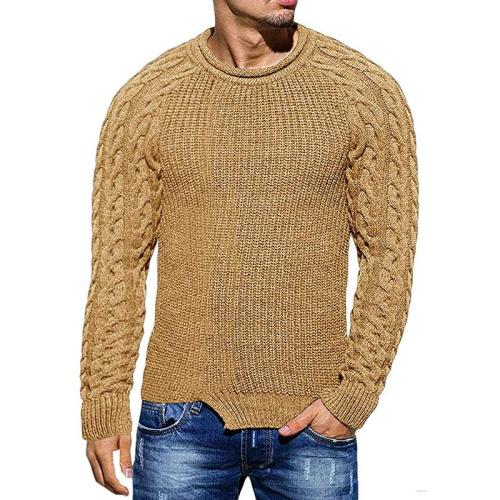 Sweater Men Fashion Casual Striped O-Neck Pull Homme Spring Autumn Cotton Knitwear Pullover Clothing