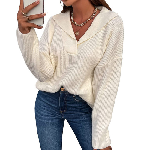 Sweaters Women Autumn Winter Solid Color Long Sleeve Pullovers Ladies Clothing 2021 Casual Loose Jersey Mujer Pull Femme Tops