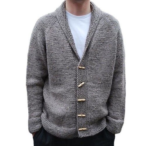 Autumn 2021 Outwear Fashion Middle Length Causal Men's Winter Sweater Cardigan Male