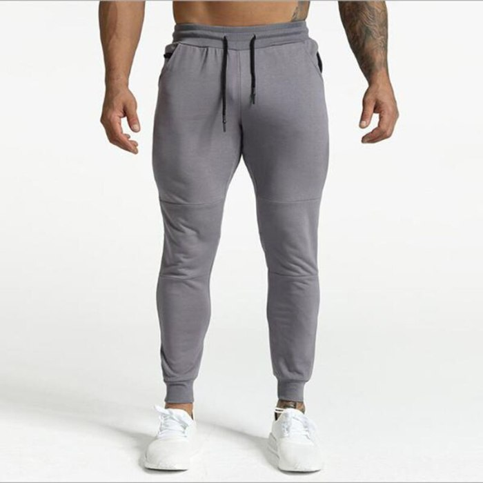 New  Brand Sweatpants Medal Fitness Casual Elastic Embroidered Pants Stretch Cotton Men's Pants Jogger Bodybuilding 2021