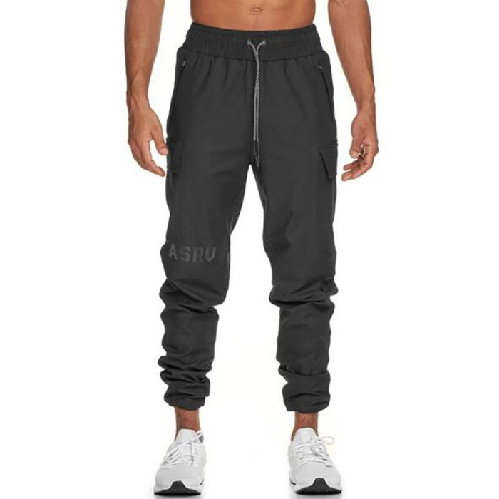 2021 Mens Autumn Casual Cotton Sweatpants With Pocket Pants Man Gyms Fitness Bodybuilding Skinny Trousers