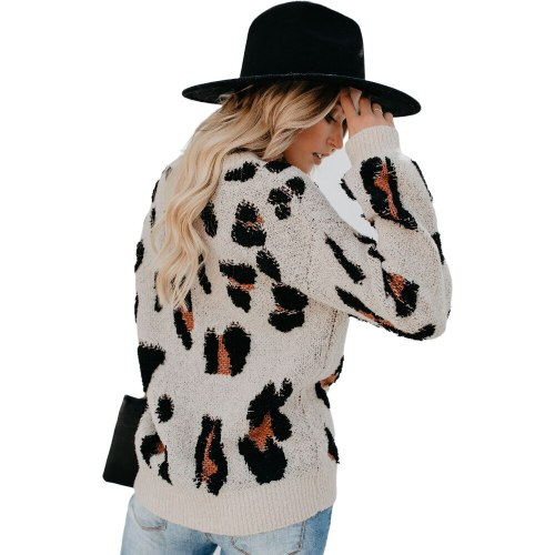 2021 Autumn Winter Fashion Print Long Sleeve Women Sweaters Pullover Casual Sweater Loose Jumpers Knitted Female Pullovers