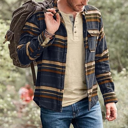 2021 Spring Hot Style New Men's Youth Trend Long-sleeved Printed Shirt Jacket