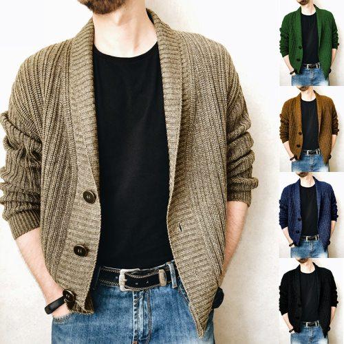 2021 New Men's Sweaters Autumn Winter Warm Cashmere Wool Button Cardigan Sweaters Man Casual Knitwear Sweatercoat Male Clothe