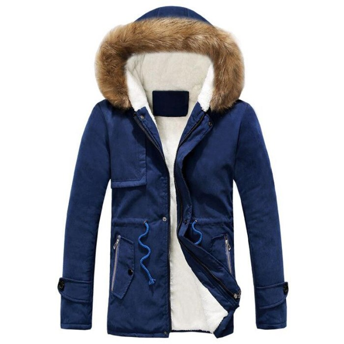 Mens Parkas Jacket High Quality New Style Winter Coat Men Hooded Cotton-Padded Clothes Long Cotton Men Winter Coat