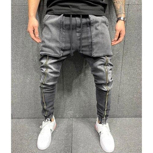 Men's Jeans European And American Fashion Leisure Sports Large Pocket PANTS LEGGINGS Men's Jeans