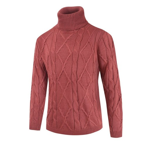 2021 Men's Turtleneck Sweater Autumn Winter Men's Rollneck Warm Knitted Sweater Keep Warm Men Jumper