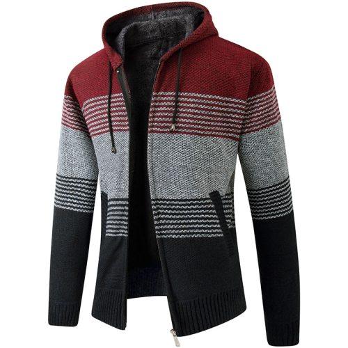 2021 New Men's Sweaters Autumn Winter Warm Cashmere Wool Zipper Cardigan Sweaters Man Casual Knitwear Sweatercoat male clothe