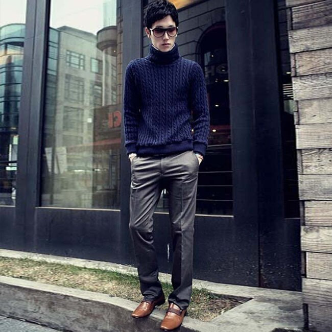 New Spring Men Formal Straight Suit Pants Slim Fashion Skinny Full Length Pants Plus Size Male Trousers Business Party