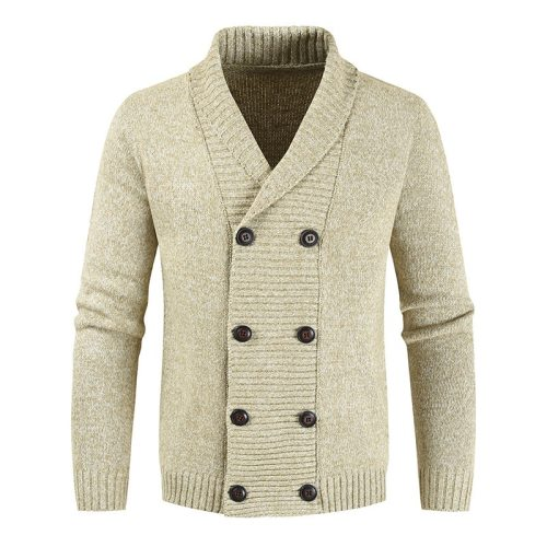 2021 New Cardigan Sweater Men Thick Slim Fit Sweater Coat Jumpers Knitwear High Quality Autumn Korean Style Casual Mens Sweaters