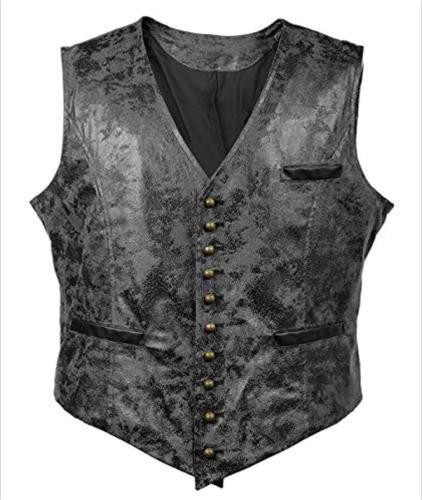 Slim Single Breasted Men Vest Suit 2020 Brand New Vintage V-Neck Vests Steampunk Casual Retro Waistcoat For Wedding Gilet