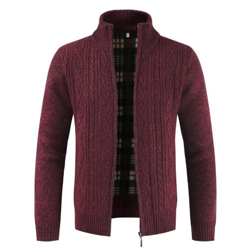 Autumn and winter men's new wool sweater warm long-sleeved sweater loose casual cardigan jacket jacket new men's clothing