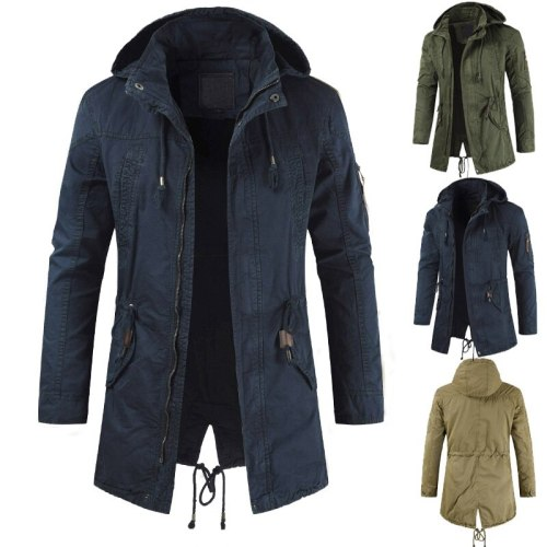 Men Jackets Man Trench Breasted Outerwear Casual top Coat military Windbreaker fashion windproof clothing