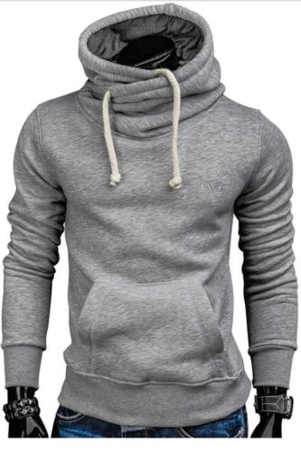 2021 Autumn Drawstring Sportswear Men Hip Hop Sweat Wear Pocket Running Jacket Hoodies Men Male Pullovers Men's Tracksuits