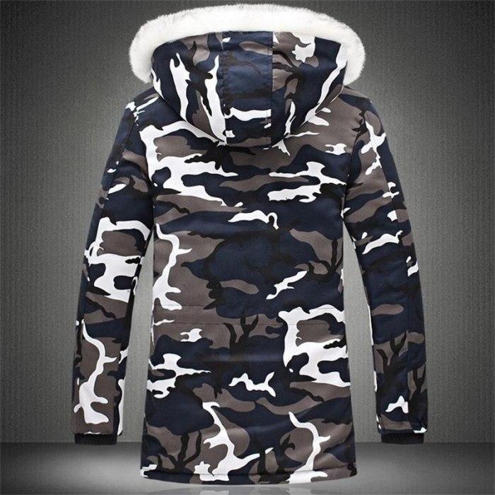 Plus Velvet Winter Jacket Men M-5XL Fashion Camouflage Parkas Men Military Coats Thicken Coats with Fur Hood Windbreaker Men