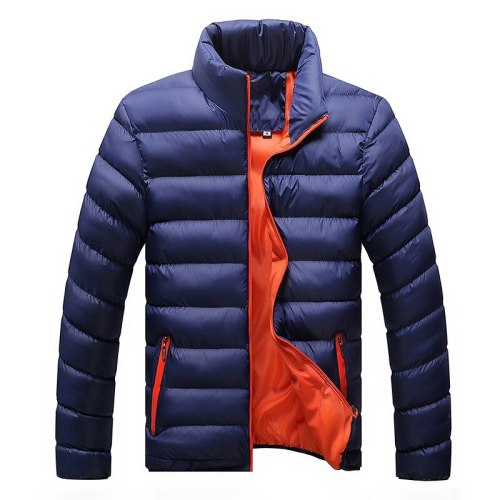 Winter Jacket Men 2021 Fashion Stand Collar Male Parka Jacket Mens Solid Thick Jackets and Coats Man Winter Parkas