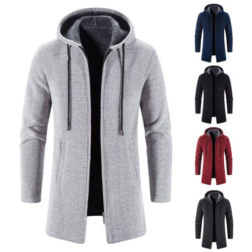 Autumn/winter knit sweater coat with cashmere and thick fashion solid color casual loose cardigan coat cashmere wool sweater