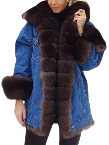 Woman jacket winter 2021  Casual  Solid  Winter  Outerwear & Coats  Wool Liner denim jacket women