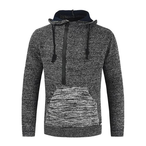2021 New With Hooded Sweaters Men'S Long Sleeves Autumn Winter Pullover Knitted O-Neck Plus OverSize 4XL