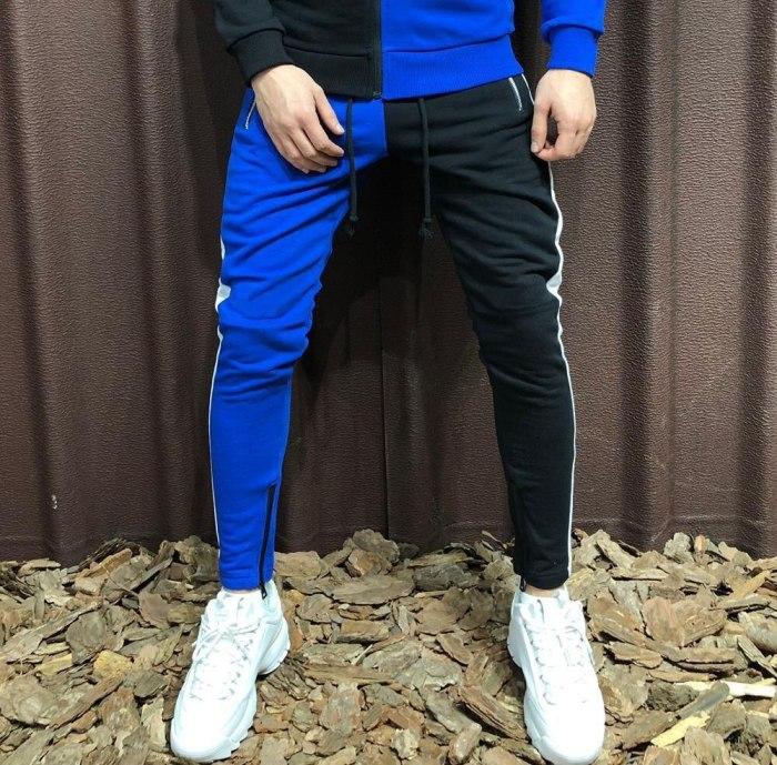 Pants Men 2021 New Men's Casual Sweatpants Fashion Color Zipper Pocket Sweatpants Slim Joggers Leg Pants