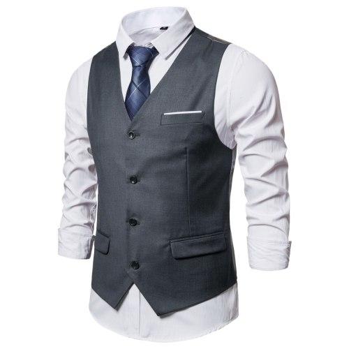 9 Color Mens Vest Casual 2021 Formal Social Business Gilet Steampunk Costume Homme Mariage Waist Coat For Men Suit Vest S-6XL