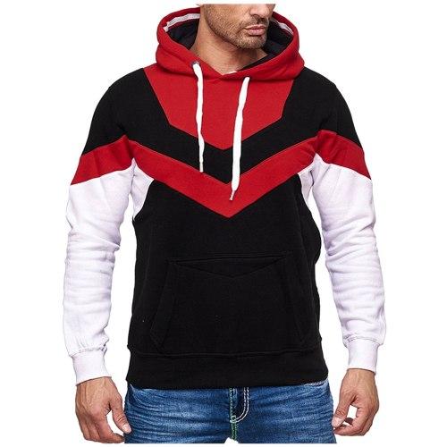 Patchwork Color Casual Men's Cardigan Sweatshirt Stand Collar Slim Fit Sweatshirt Men's Long Sleeve Zip Knit Cardigan Sweatshirt