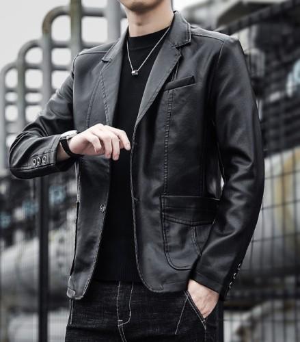 Casual Men'S Single Button Solid Color Jacket