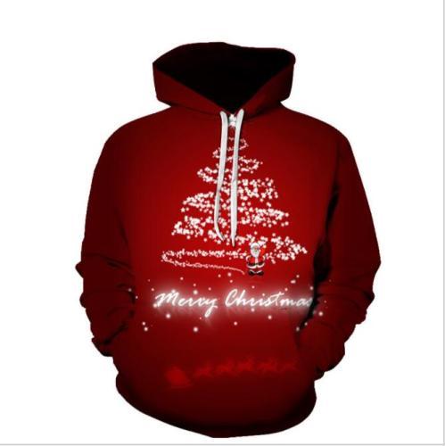 Men 3D Printing Hooded Sweatshirt Men's Christmas Theme Fashion Hoodie Fall Winter Fashion Hooded Pullover