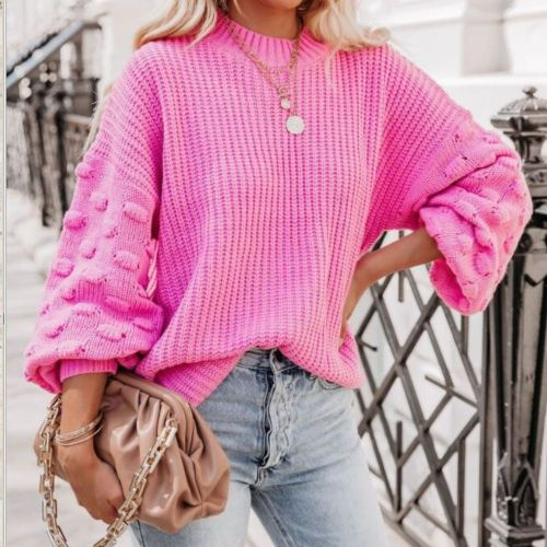 Women Solid Knitted Thickening Oversized Sweater Female Round Neck Long Sleeve Casual Loose Pullovers Top 2021 Autumn Winter