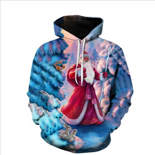 Men and Women sweatshirts 2021 new spring winter lovely moose Harajuku men 3D hoodie christmas hoodies unisex clothing