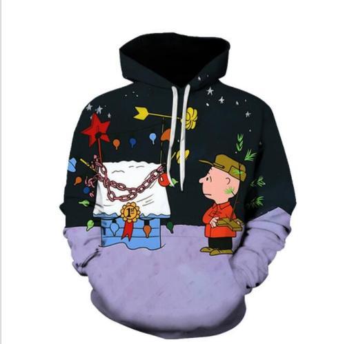Funny 3D 90s Cartoon collage printing Hoodies Cute Anime Hoodie Series Men/Women Autumn and Winter Sweatshirt boys hoodie