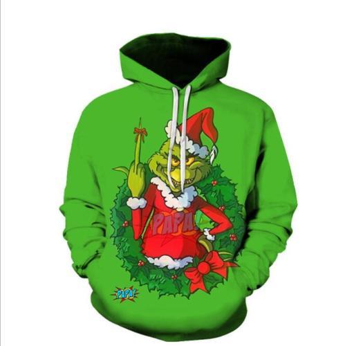 2021 Ugly Christmas Sweater Christmas Unisex Men Women Christmas Novelty Snowman 3D Print Hooded Sweater Warm Sweater Streetwear