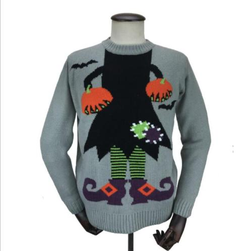 Women's spring and autumn knitted sweater girls Western fashion slim casual cotton LED lights