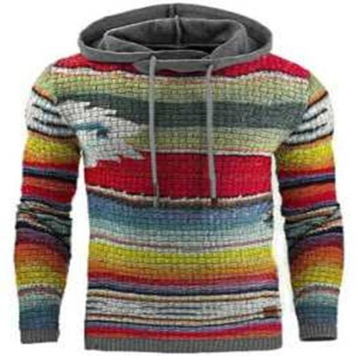 2021 Autumn Winter Men's Hooded Sweaters Male Sweaters Cotton Jumper Man Fashion Casual Gray Wine Slim Mens Sweaters