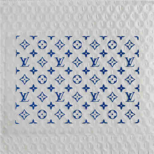 1 big sheet blue LV heat transfers iron on stickers shoe decals custom shoes custom air force 1 custom AF1 shoe patches