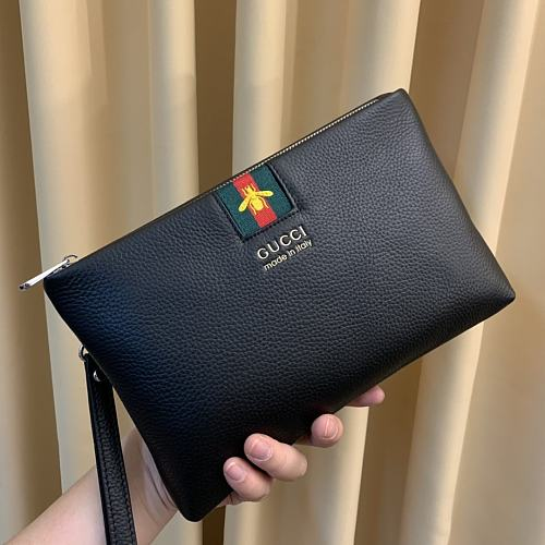 High-end replica GUCCI Leather Hand Bag 2305