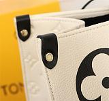 High-end replica LOUIS VUITTON CRAFTY ONTHEGO SHOULDER BAG M45373 WHITE