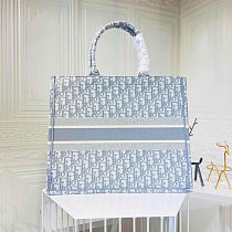 Replica AAA DIOR Embroidery Shopping bag 0132 Blue
