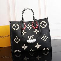 Highest Replica fake LOUIS VUITTON CRAFTY ONTHEGO SHOULDER BAG M45373 BLACK