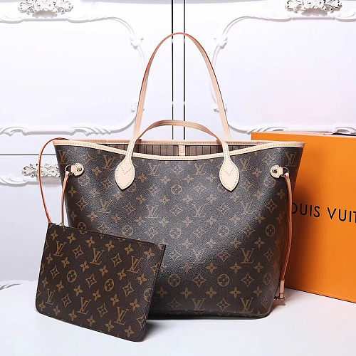Knoc off hot Replica LOUIS VUITTON Monogram Canvas Neverfull MM 40996 Brown
