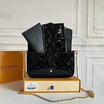 Replica Desinger Bags LOUIS VUITTON M61276 LV POCHETTE FELICIE BAG BLACK 100736