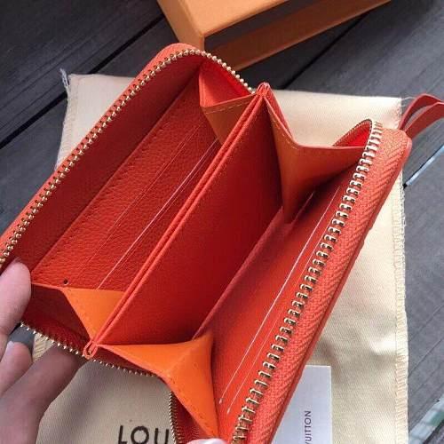 Louis Vuitton M60067 LV ZIPPY COIN PURSE ORANGE 101034