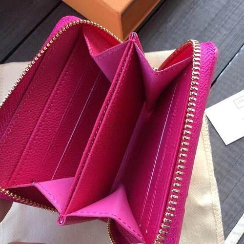 Louis Vuitton M60067 LV ZIPPY COIN PURSE ROSE RED 101035