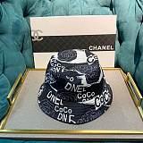 CHANEL FISHERMAN  HATS BLACK & WHITE KKIW025