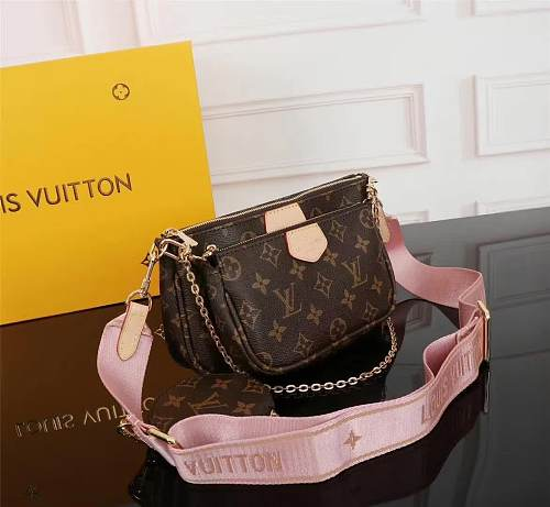 Louis Vuitton M44813 Multi Pochette Accessoires Crossbody Bags Handbags Purse Pink