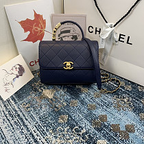 CHANEL AS2059 Flap Bag With Top Diamond Handle(Blue)