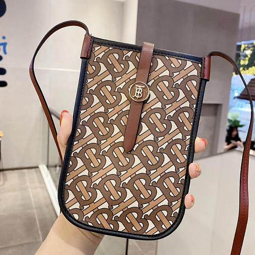 BURBERRY INSPIRED PU LEATHER  UNIVERSAL PHONE CASE WITH LANYARD  984K028