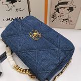 CHANEL AS1160 19 Denim Flap Bag(Blue)